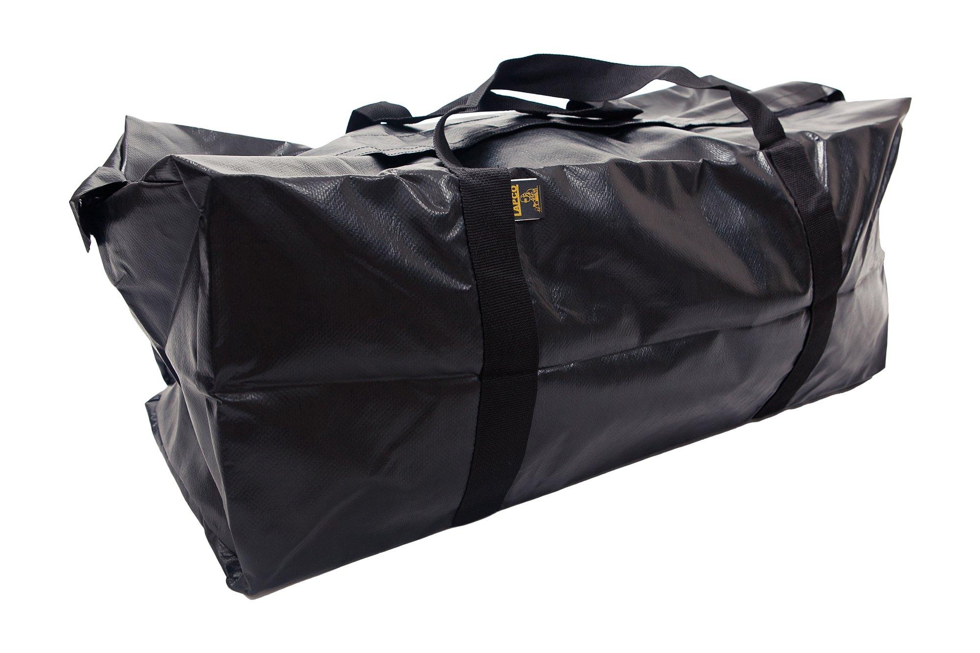 Lapco FR LAP-BV1230BLK Heavy-Duty Weather-Resistant Vinyl Bag, 18 oz, Medium, Black
