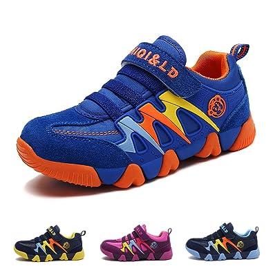 d42e82dd6bb0 Chaussures de Tennis Garçon Fille Chaussure de Course Sports Mode Basket  Sneakers Running Compétition Entraînement pour