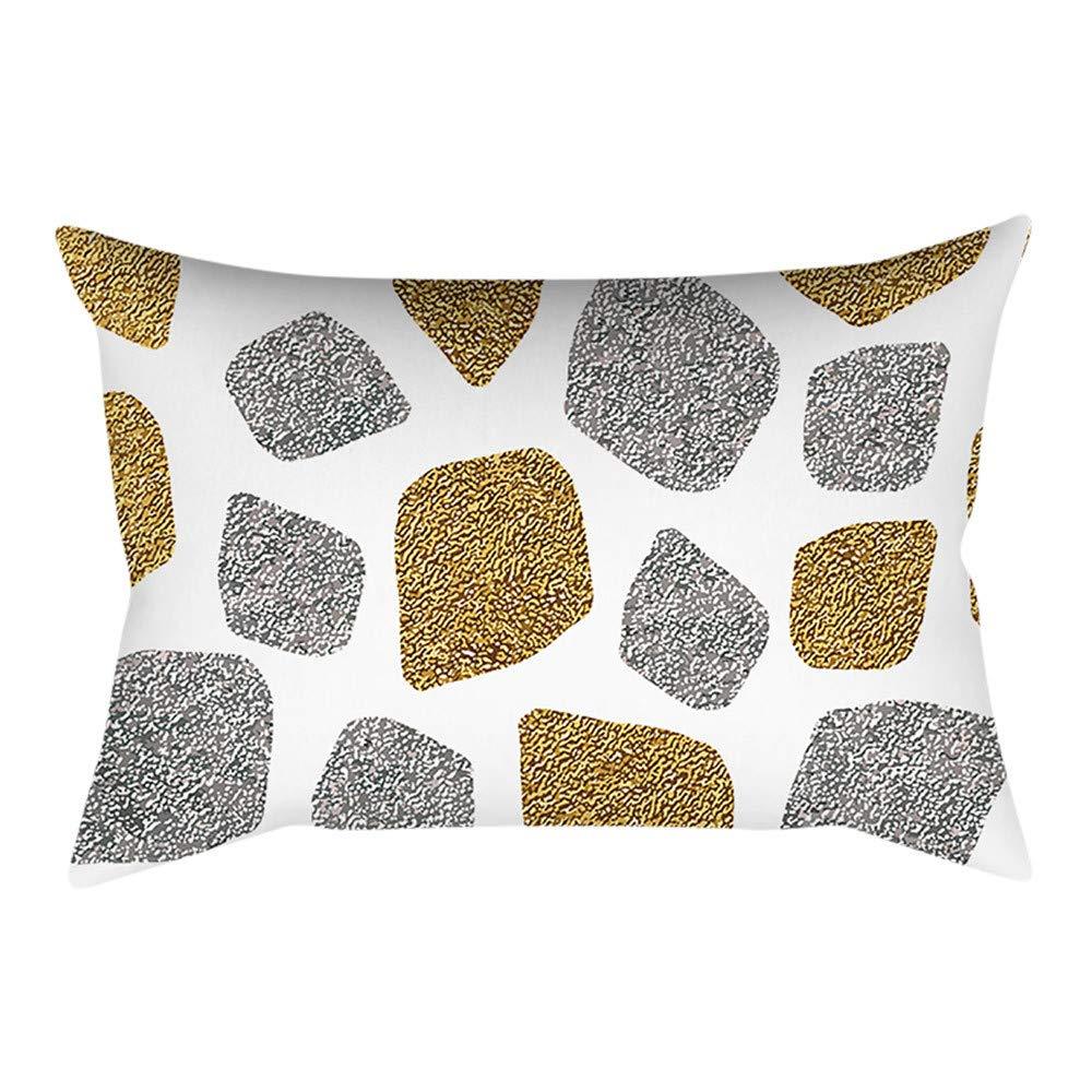 Hattfart Painting Fresh Throw Waist Lumbar Pillow Case Home Office Decorative Relieve Lower Back Discomfort Rectangle (O)