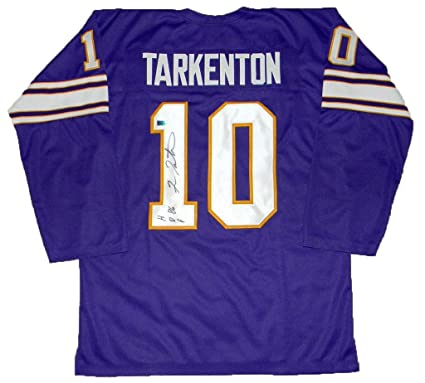 wholesale dealer e7ea7 fc8c2 Signed Fran Tarkenton Jersey - #10 Purple Throwback ...