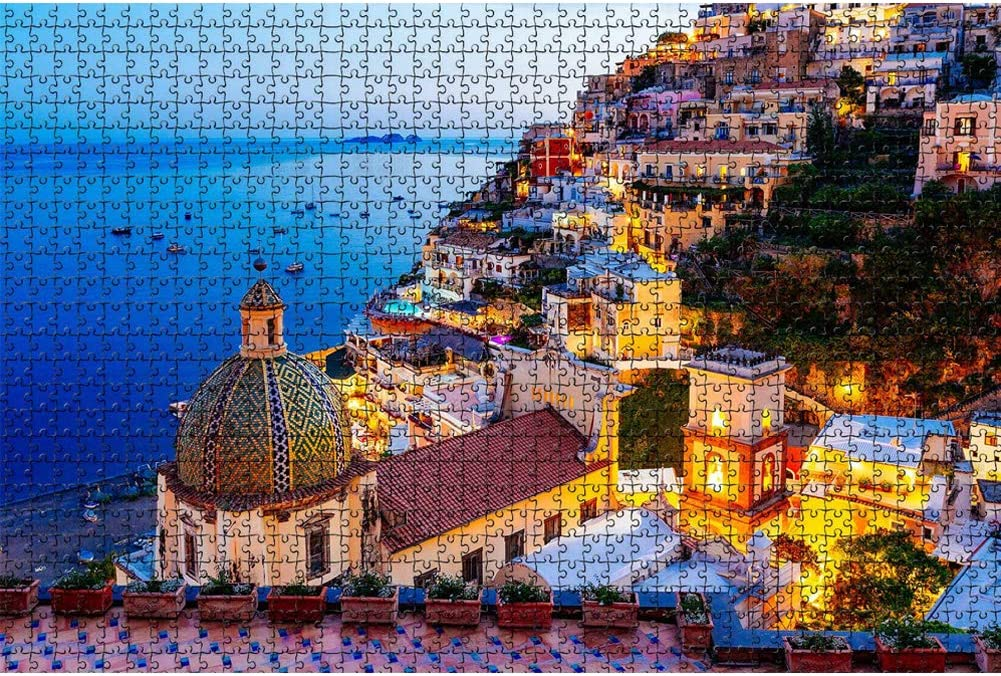 Jigsaw Puzzle 1000 Piece for Adult Kids Teens Amalfi Coast Large Puzzle Game Toys Gift Artwork