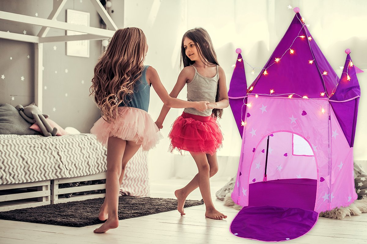 Alvantor  Princess Crystal Castle with LED Lights