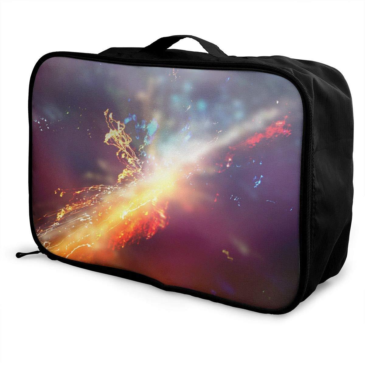 Travel Luggage Duffle Bag Lightweight Portable Handbag Colorful Splash Pattern Large Capacity Waterproof Foldable Storage Tote