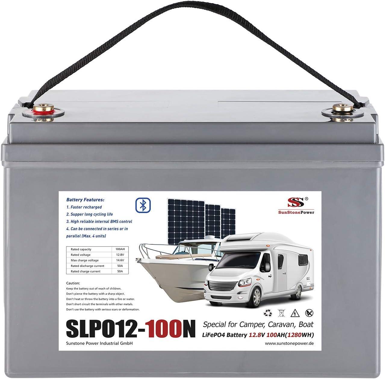 Sunstone Power Lifepo4 12v 100ah Lithiumbatterie Smart Elektronik