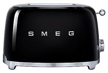 SMEG Tostador TSF01BLEU, 950 W, Acero Inoxidable, 2 Ranuras, negro