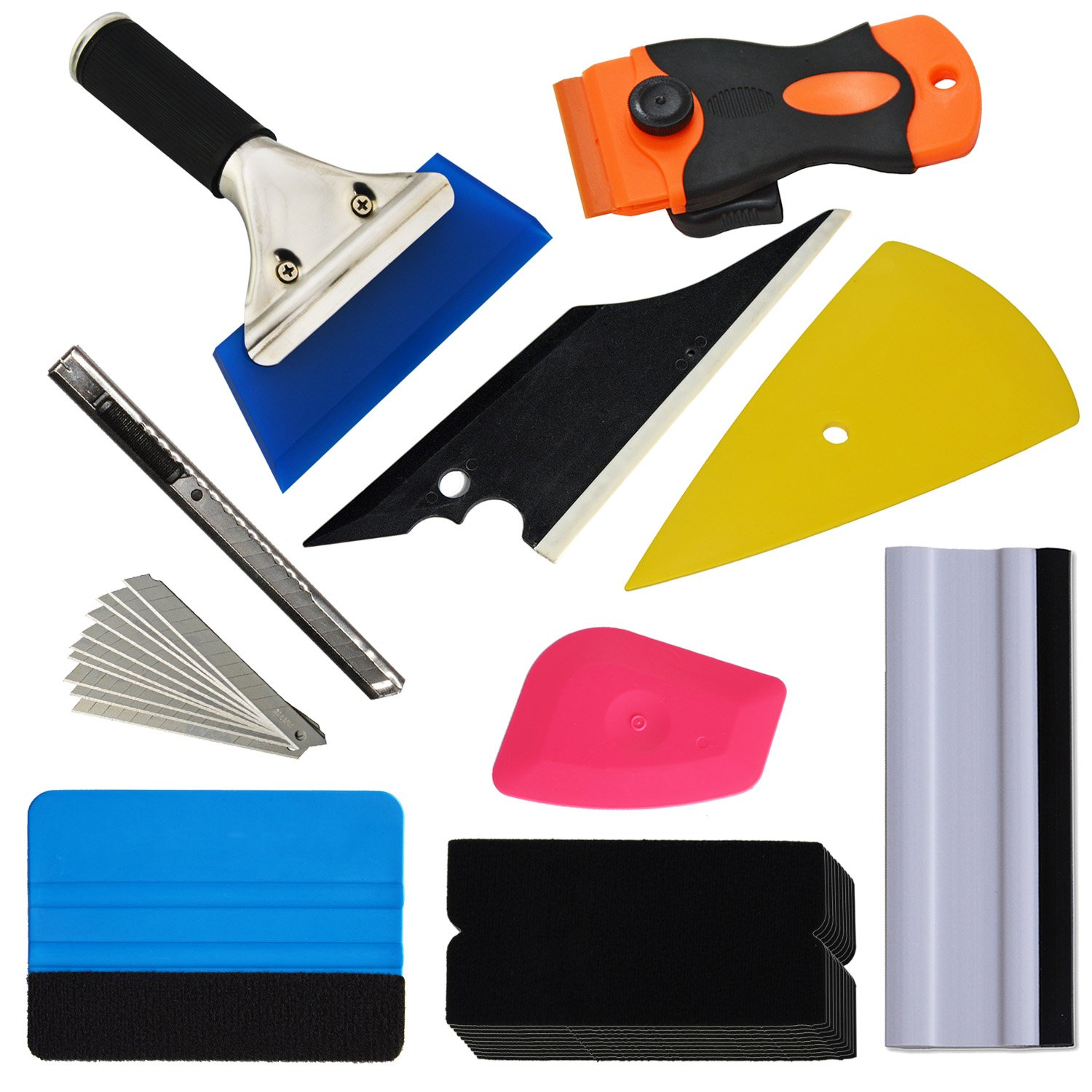 Film Cutters by Ehdis Scrapers 7 PCS Vehicle Glass Protective Film Car Window Wrapping Tint Vinyl Installing Tool: Squeegees Ehdis New Arrival!