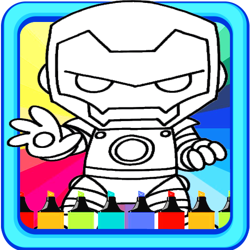 Coloring Pages-Mini Heroes (Free Cartoon Downloads)