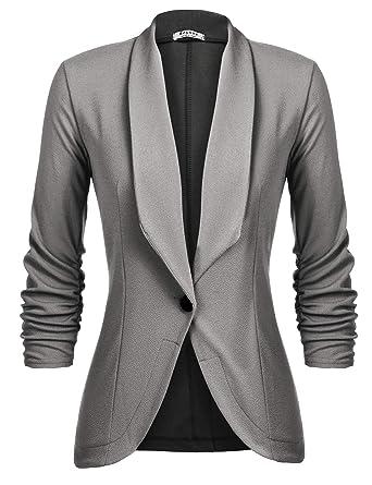 rivenditore all'ingrosso 89fbc 3c17c UNibelle Blazer Donna Casual Giacche da Abito Slim Fit Giacca Manica a 3/4  Elegante S-XXL