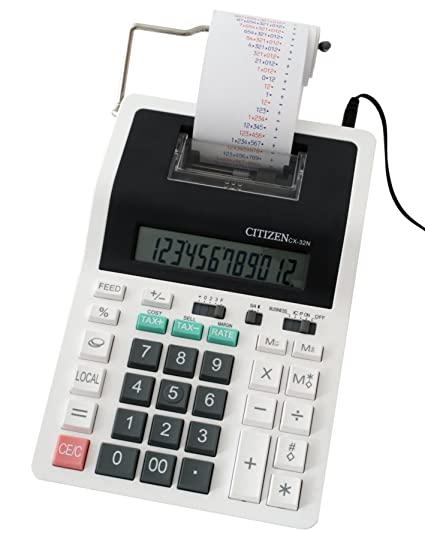 Amazon.com: Printing calculator Citizen CX 32 N, 101817 ...