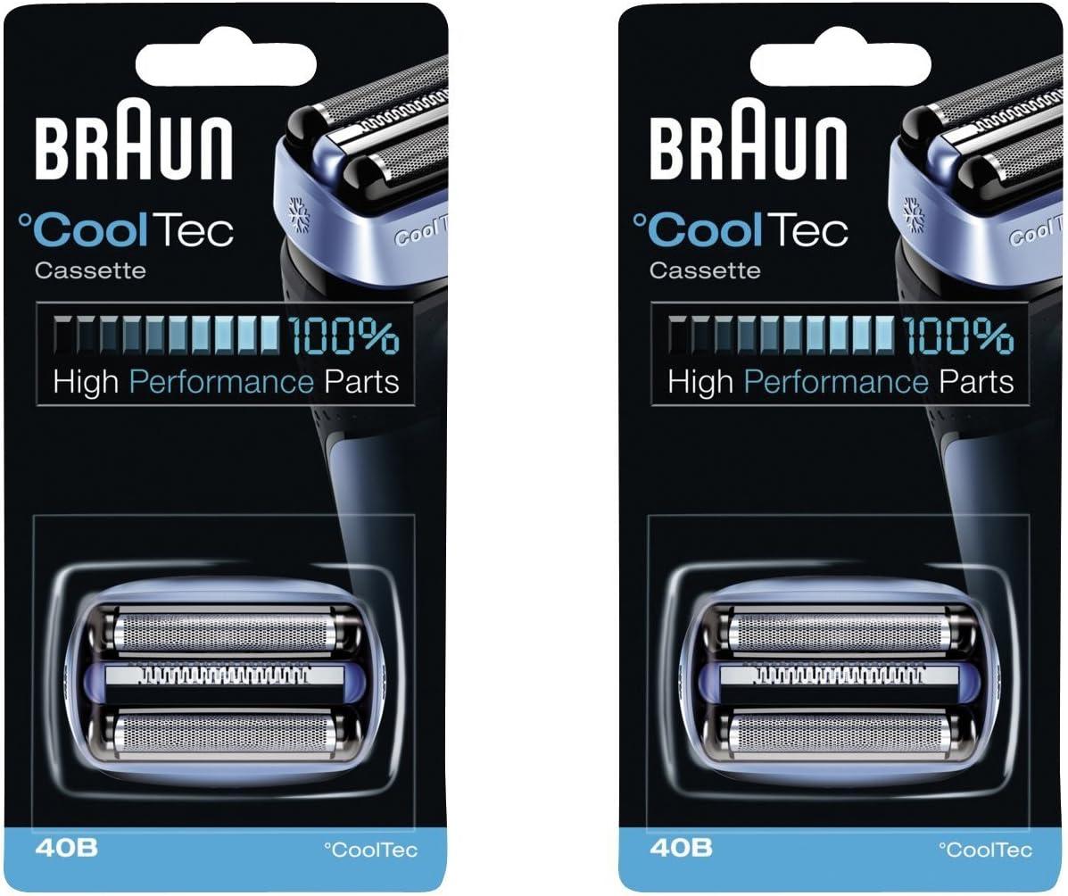 Braun 40B Mens Lámina Eléctrica Cooltec Y Cortador Pack Set Cabeza ...