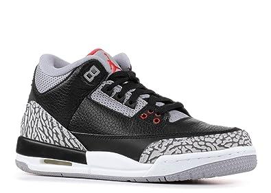 Nike Air Jordan 3 Retro OG BG Black / Fire-Red / Cement 854261-001 Size 6.5 PADS