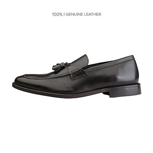 Zapatos Hombre Decorativa Rochas Piel Mocasines Con Para Borla De KJ3TlcF1