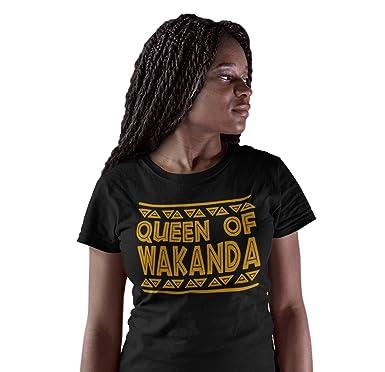 810fe760 Amazon.com: iApparel Queen Of Wakanda Women Black Shirt: Clothing
