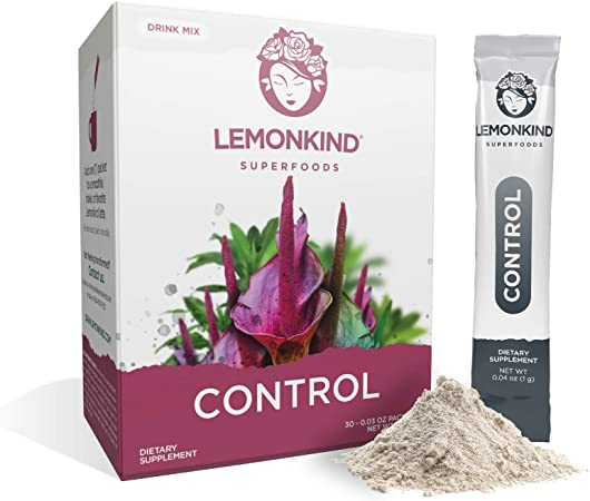 Organic Zero Calorie Control - Healthy Appetite Suppressant for Weight-Loss jumpstart, Natural Glucomannan Fiber from Konjac Root (30 Stick Pack)