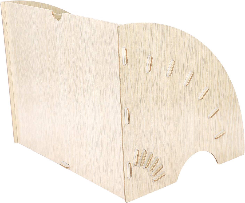 schwarz Sortierer f/ür B/üro und Zuhause aus Holz Briefe Marbrasse Schreibtisch-Organizer mit 5 Ablagen f/ür Dokumente Briefablage Papier-Organizer