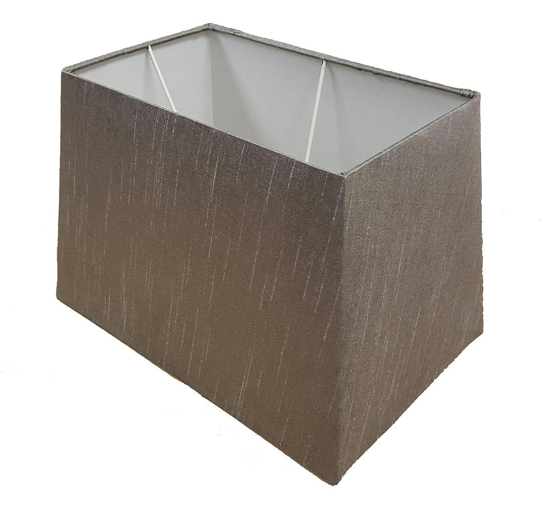 Grey Rectangular Table Lamp Shade - Size: 13
