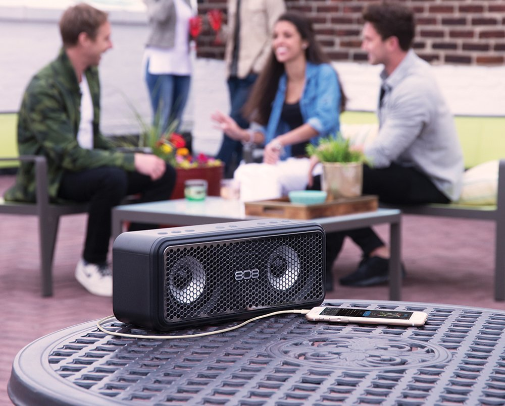 808 Audio LXS Power Bank Portable Speaker with Bluetooth - Black by 808 Audio