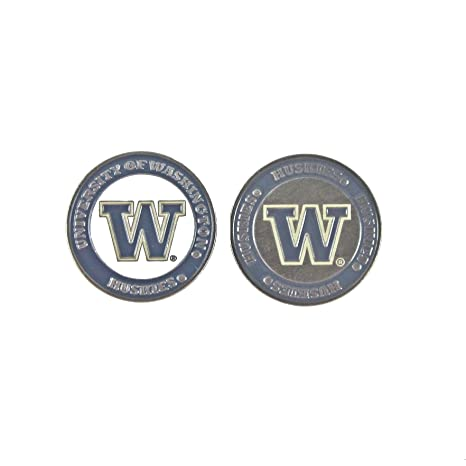 349e2f5ad94 Image Unavailable. Image not available for. Color  Washington Huskies Double -Sided UW Golf Ball Marker