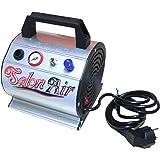 Compresor de aerografia portatil con calderin 0,3 L. Presion regulable 0-3 Bar. Manometro y filtro anticondensacion incorporado. Modelo AS-176