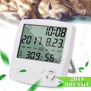 HUABEI Hygrometer Thermometer, Digital Luftfeuchtigkeit Messer ...