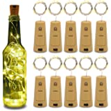 Betus 10 Pack Wine Bottles Cork String Lights - Battery Powered - Decorations for Garden, Wedding, Christmas & Party…