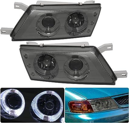 Compatible con Nissan Sentra/200SX ahumado lente proyector doble ...
