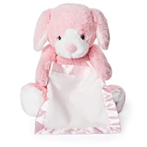 "Spin Master Peek a Boo Puppy Animated Stuffed Animal Plush, Pink, 10"""