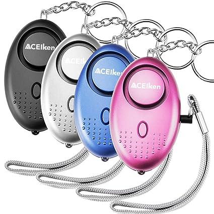 Amazon.com: aceiken alarma Personal, Paquete de 4 140 db ...