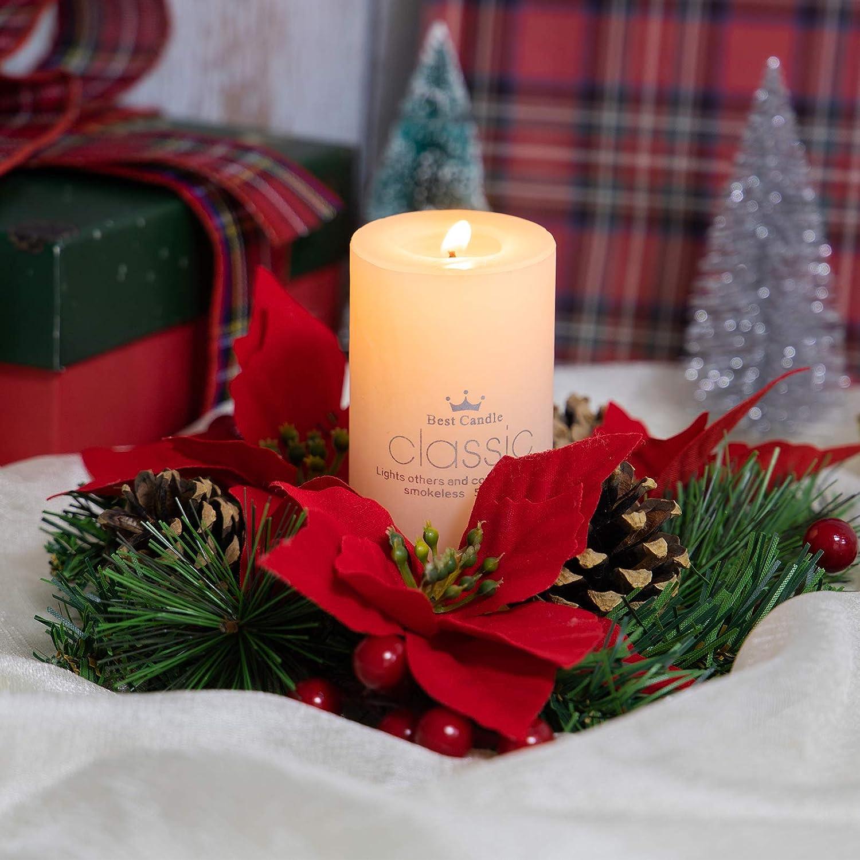 Winter Decor Candle Centerpiece Christmas Centerpiece Table Centerpiece Christmas Candle Poinsetti Winter Centerpiece Christmas Decor