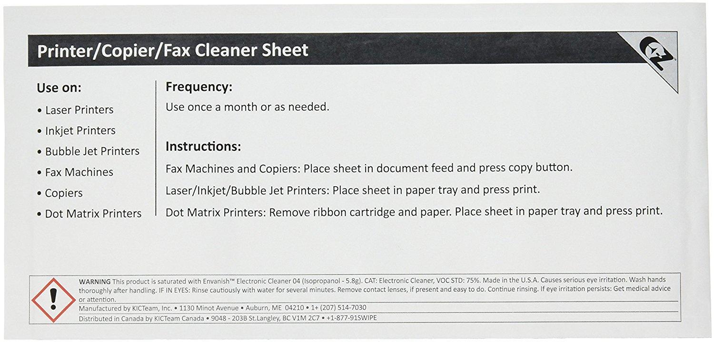 Waffletechnology K2-PCFF5 EZ Printer/Copier/Fax Cleaner Sheet (100)