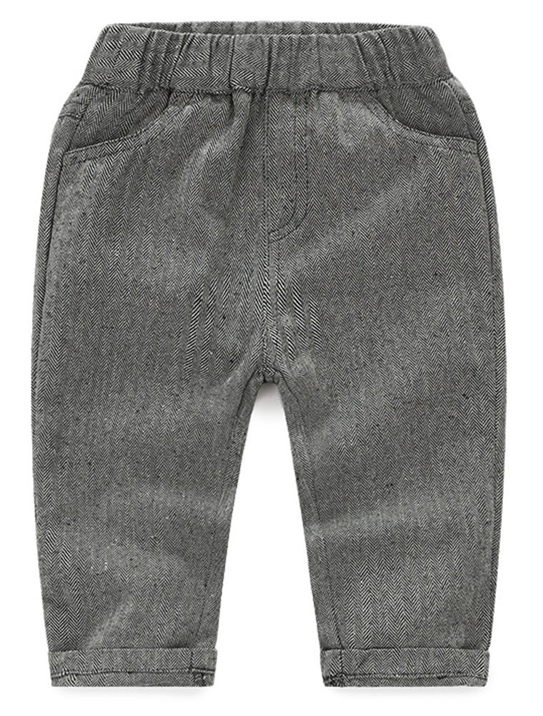 Abolai Baby Boys' 3 Piece Vest Set with Shirt,Vest and Pant Grey 80 by Abolai (Image #5)