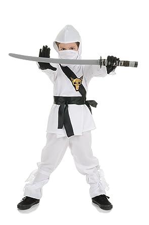 Underwraps White Ninja Karate Costume XL: Amazon.es: Ropa y ...