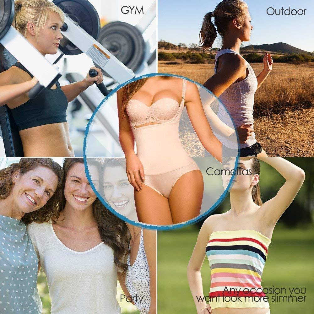 1d8e0d2cb4 SHAPERX Camellias Women Seamless Firm Body Control Bodysuit Thong Body  Shaper Slimmer Shapewear