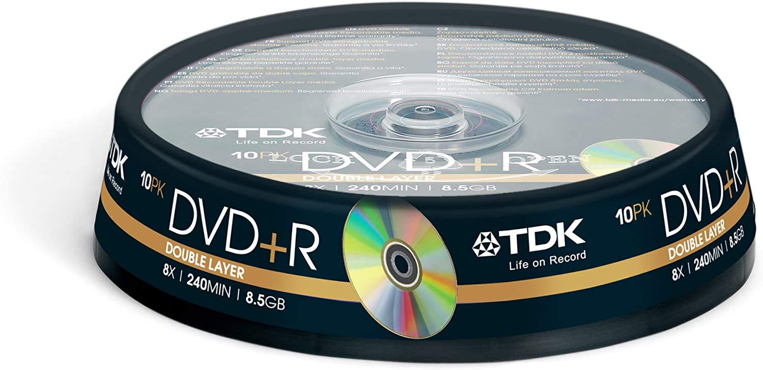 Tdk T19924 Dvd R Dl Double Layer Rohling 8 5gb In Computer Zubehör