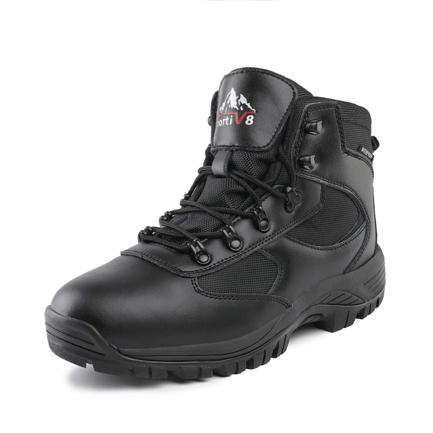 NORTIV 8 Men's Waterproof Hiking Boots Mid Outdoor Backpacking Trekking Trails Lightweight Shoes Black Size 11 M US Mack_02 by NORTIV 8