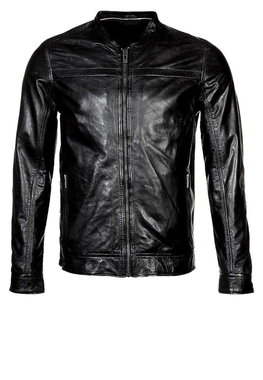 Laverapelle Men's Lamb Skin Real Leather jacket Black - 1510595