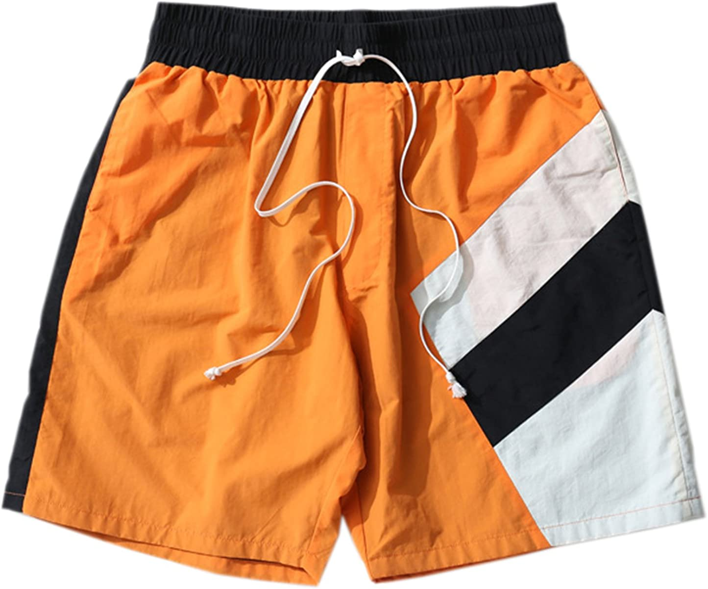QZH.DUAO Mens Athletic Splice Shorts