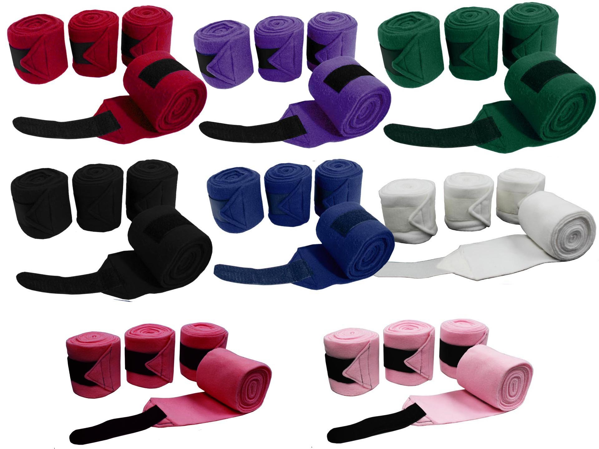 Derby Originals Horse Polo Wraps Set of 4 Select from 6 Colors by Derby Originals