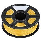 3D Printer Filament - TOOGOO(R)3D Filament 3.0mm PLA for Print RepRap MarkerBot Rapman 1kg/2.2lbs, Gold yellow