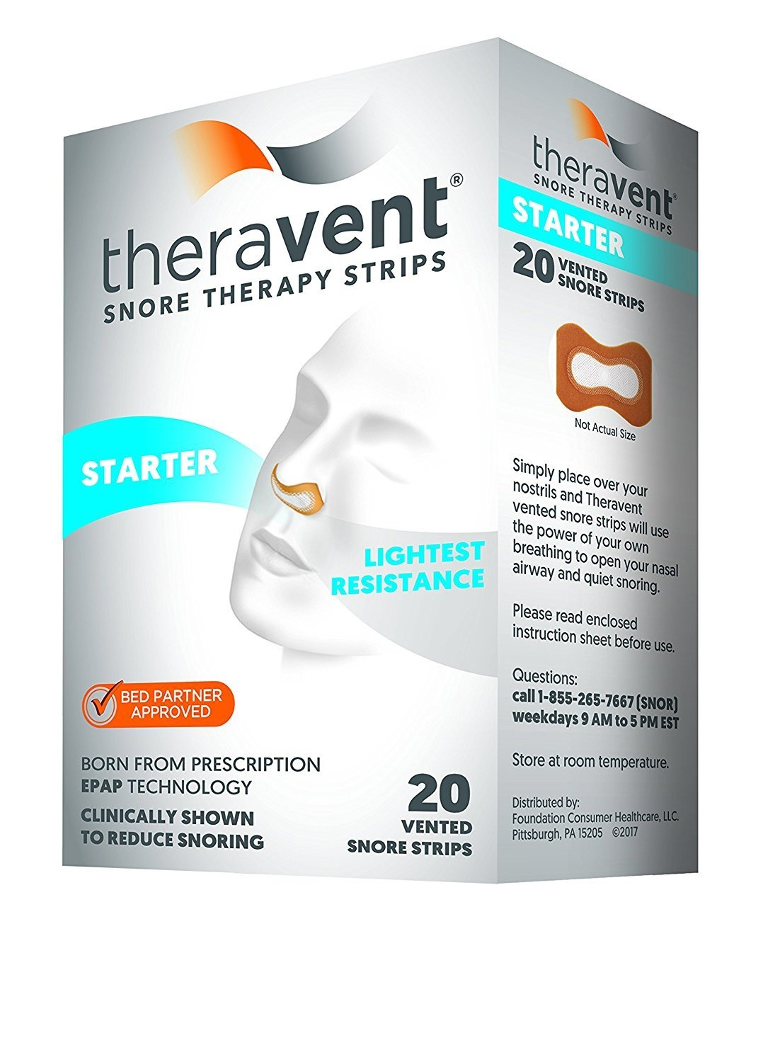 Theravent Snore Therapy Starter Pack, 20 Count