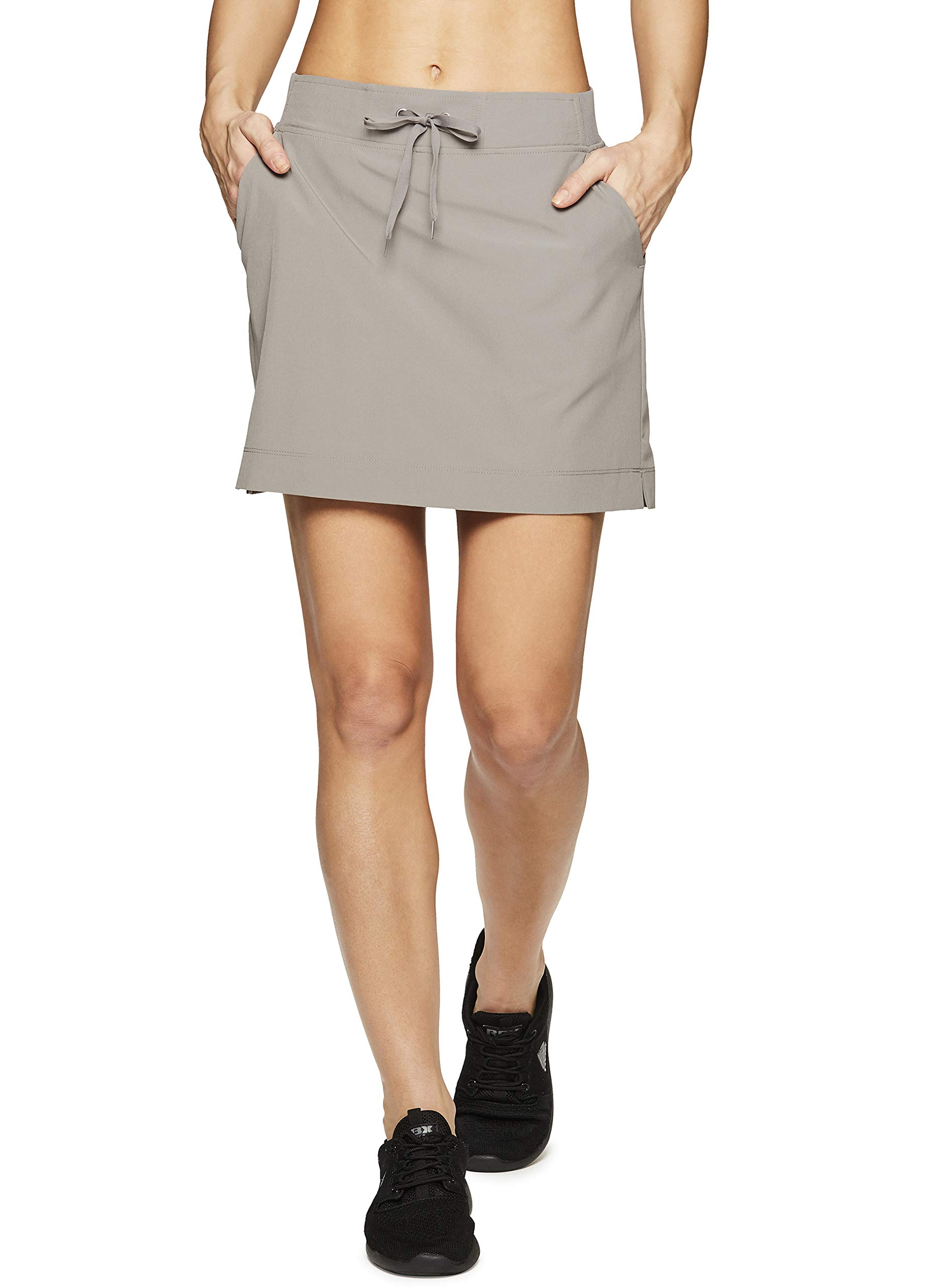 RBX Active Women's Golf/Tennis Athletic Skort with Bike Shorts S19 Taupe S