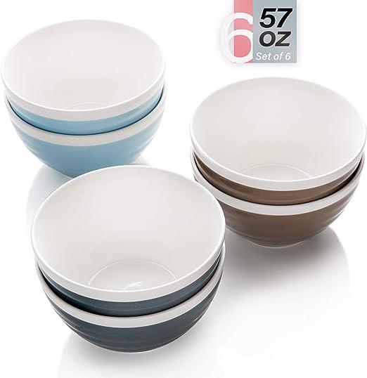 Amazon.com: Cuencos de porcelana - Cuenco grande de cerámica ...