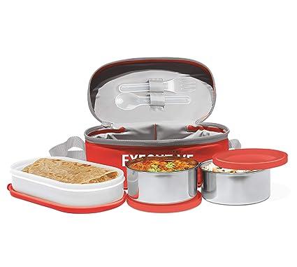 Milton Executive Plastic Lunch Box, 260ml, Red