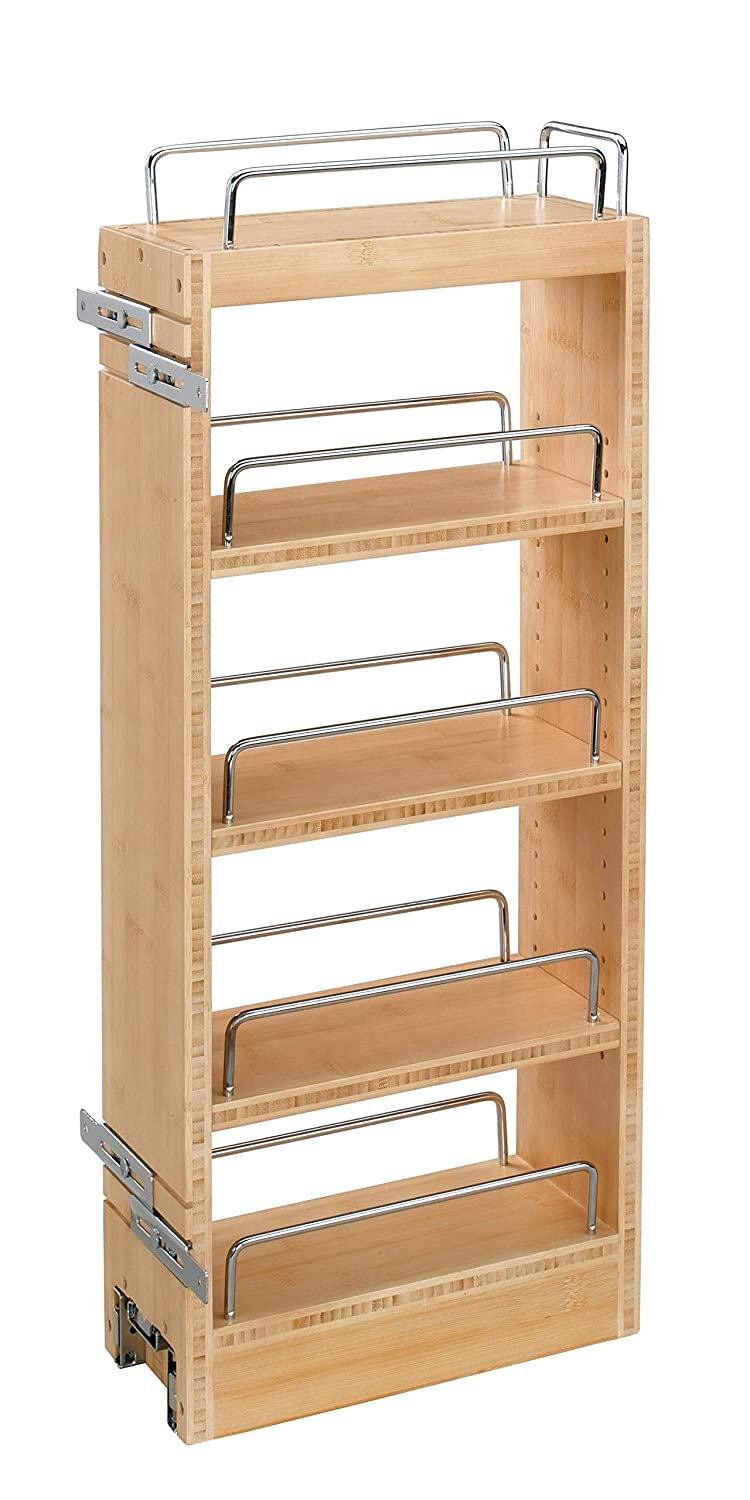 Rev-A-Shelf - 448-WC-8C - 8 in. Pull-Out Wood Wall Cabinet Organizer