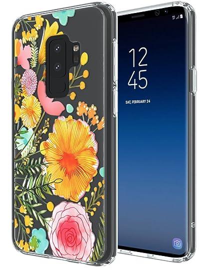 amazon com samsung galaxy s9 plus case swoders flower clear design