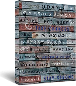 Quotes Today is a new day Canvas Wall Art, Gifts for Kids Men male friends, grandfathers, Living Room Bedroom Office Teen Boy Girl Room Decor 12