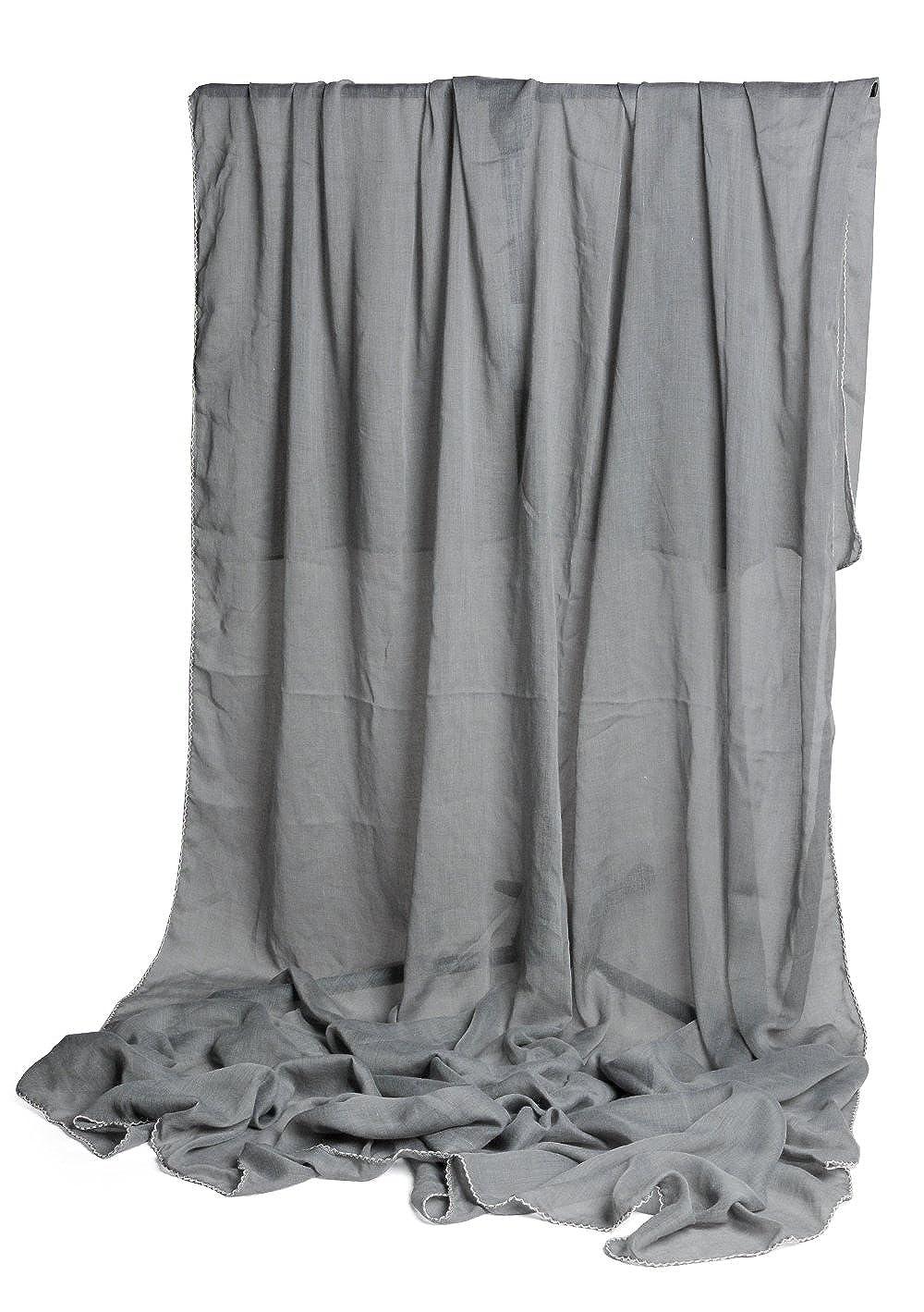 Stola XXL da donna 220/x 140/cm tinta unita