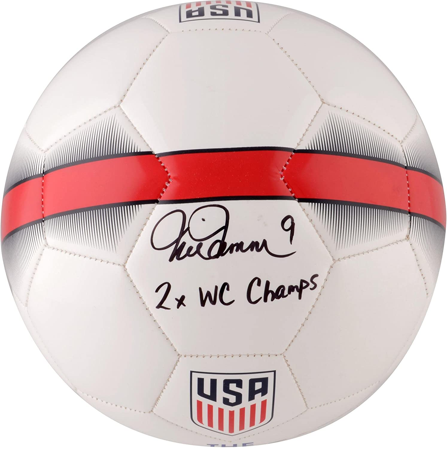 Mia Hamm Team USA Autographed Nike White Soccer Ball with'2X WC Champ' Inscription - Fanatics Authentic Certified