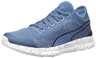 Puma Men's Ignite Sock Woven Running Shoe, Blue HeavenWhite, 13 D US
