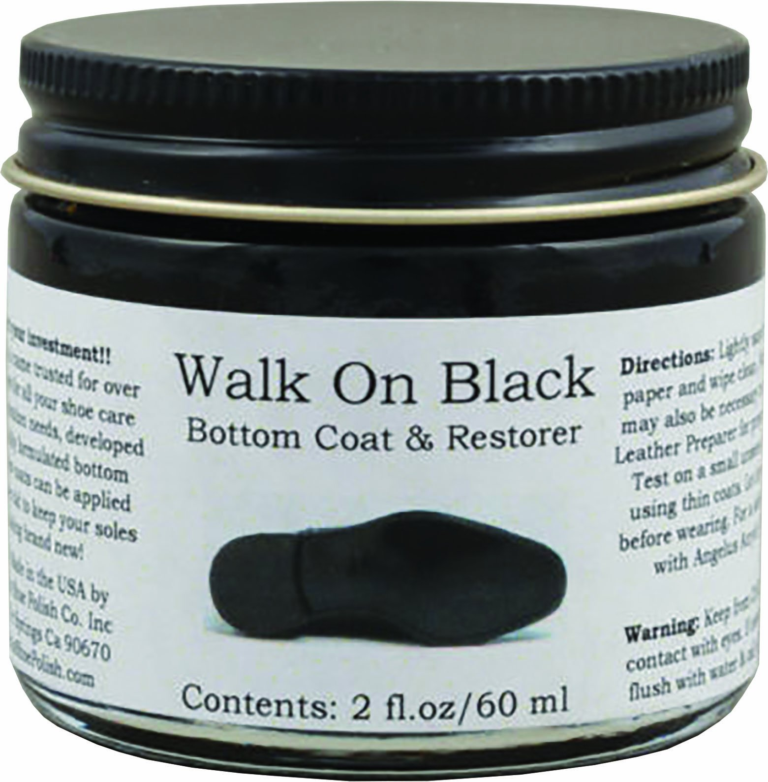 Angelus Sole Coat- Walk on Black 2oz